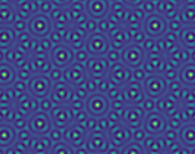 Using sound waves to make patterns that never repeat: a quasiperiodic two-dimensional pattern